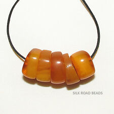 5 antique authentic natural amber beads yemen african trade #78e 7.8 克天然琥珀珠
