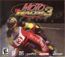 MOTO RACER 3 Motorcycle Racing, Street, Motocross, Freestyle, Trials PC Game NEW