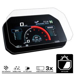 BMW S1000XR/R  (2020+) Armaturenbrett Tacho Displayschutzfolie 3 x Entspiegelt
