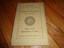 Annual Report Board of Education Chicago 1912 School History High School