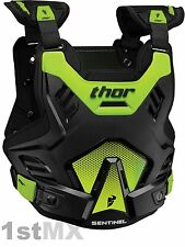 2017 THOR Sentinel GP Body Armour Chest Protector Motocross Youth Kids Green