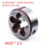 1 pc M20* 2.5 mm Pitch Metric Left hand thread Die HSS Alloy tool steel
