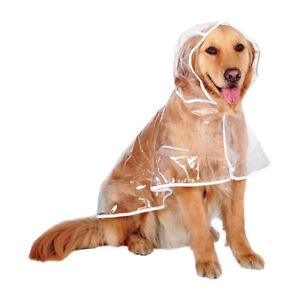Dog Raincoat Transparent Hoodie Outdoors Jacket Big Sized Golden Retriever New