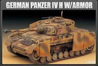 1/35 Panzer IV Aust. H With Armor Tank #13233 Academy Model Kit With Free Gifts