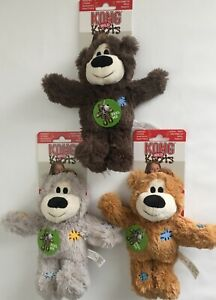 KONG Wild Knots Bear Dog Puppy Rope Plush Squeaky Various Sizes and Colours