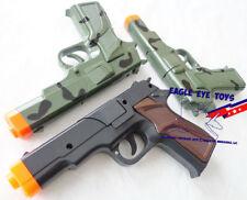 Toy Gun Military Detective 3x 9MM Pistol Cap Guns CCB