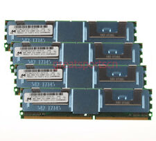 32GB For Micron 4X 8GB PC2-5300F DDR2 667MHZ FB-DIMM ECC Server Memory RAM @3H
