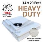 Premium Heavy Duty Canopy Tarp Poly Tarpaulin Reinforced Tent Car Boat 14 x 20
