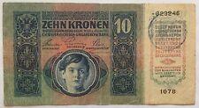 AUTRICHE Banque HONGRIE - 10 KORONA (2.1.1915) Billet de banque // Qualité : TB