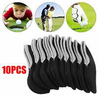 10 Stück Golf Schlägerhauben Schlägerkopfhüllen Eisenhauben mit Sichtfenster