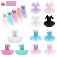 Girls Ballet Tutu Dress Kids Gymnastics Leotard Skirt Skating Dance wear Costume