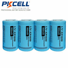 4x ICR18350 Rechargeable Li-ion Battery 3.7V 900mAh Cells For LED Torch