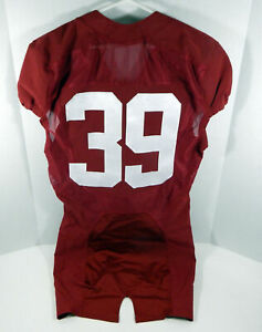 2009-15 Alabama Crimson Tide #39 Game Used Red Jersey BAMA00292