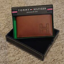 TOMMY HILFIGER ~ BILLFOLD WALLET & VALET & PASS ~ LEATHER ~ BROWN ~QUALITY~ BNIB