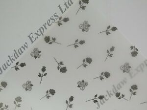 Printed Vellum Paper - Black Roses A4 110gsm Choose 10 or 25 Sheets Cardmaking