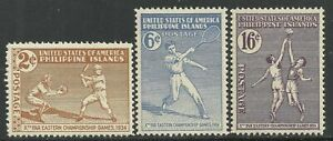 Philippines #380-382 issues of 1939 - SPORTS Mint **NH** - NICE!!