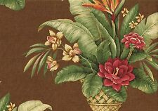 Kingsway Fabric Mimi Mambo Brown Red Green Orange Yellow  Drapery Upholstery R1