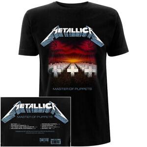 Metallica Master Of Puppets Tracks Shirt S-XXL Official T-Shirt New