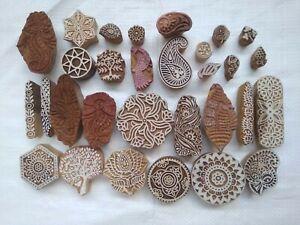 Mughal Design Wooden Blocks Hand Carved for Saree Border Making wood stamp Tjap