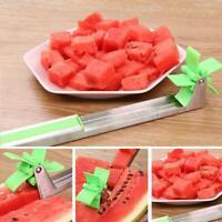 Wassermelonenschneider Cutter Messerzangen Corer Obst Melone Edelstahl Werk H2Y9