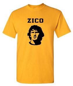 Zico Brazil World Cup Football Mens T-Shirt