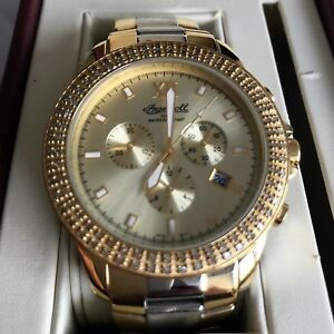 INGERSOLL DIAMOND TWO TONE GOLD PLATED MENS / LADIES WATCH BOXED, RRP NEW £795