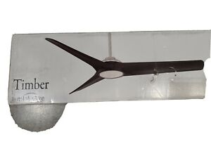"MinkaAire Timber 68 Timber 68"" 3 Blade Indoor Smart LED Ceiling - Brushed Nickel"