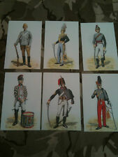 Set x 6 Military Postcards 15th 19th Kings Royal Hussars by Alix Baker