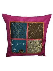 Kissenbezug 40x40 Pink Indien Orient Ornamente Bollywood Patchwork (X13)