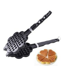 Waffle Maker Stainless Steel Heart Shaped Maker Molding Machines Nonstick Baking
