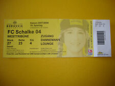 2007/08 Ticket BVB Dortmund - FC Schalke 04 Eintrittskarte Sammler Bundesliga