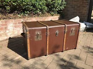 Cabin trunk storage chest - Wood Banding