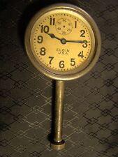 Vintage Elgin Car Clock Pocket Watch Long Stem Case Face Glass Parts or Repair