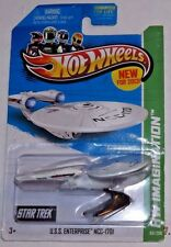 "2013 Hot Wheels #60 (white) ""USS ENTERPRISE NCC-1701"" with Battle Damage  K4"