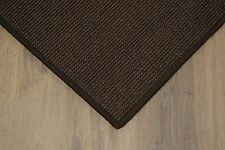 sisal TAPPETO MARRONE SCURO 120x180cm 100% Agave anelloin Loop