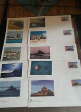 Lot de 10 enveloppes Prêt à Poster illustrées Mt St Michel - Lettre prioritaire