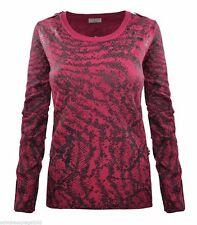 Feine hüftlange Damen-Pullover mit geometrischem Muster