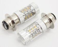 Honda Odssey 250 Pilot 400 LED 100w Headlights Bulbs Super White 8500K SW