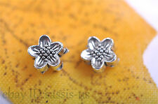 200pcs 6mm Charms Flower Spacer Beads Tibet Silver DIY Jewelry Making Bead A7037
