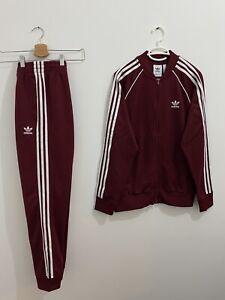 Adidas Originals Superstar Tracksuit Collegiate Burgundy White Size L
