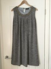 Klass Silver Grey Marl Beaded Dress Large