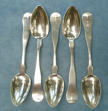 5 Coin Silver Tea Spoons Bigelow Bros & Kennard Mid 1800s
