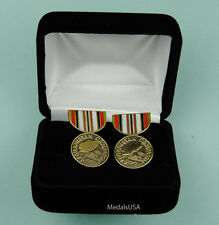 Afghanistan Campaign Medal Cuff Links in Presentation Gift Box - Cufflinks