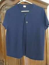 JCREW CASHMERE TWO-BUTTON CARDIGAN SWEATER NAVY BLUE PREOWNED #91474 M