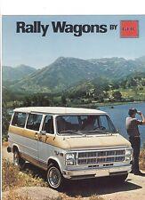 1979 GMC Rally Wagons G-1500 G-2500 G-3500 Dealer Sales Brochure - Mint!