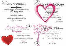 Engagement Invitation Cards - 50 invites with envelopes