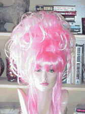 SIN CITY WIGS LONG NEON PINK UP DO LAYERS SPIKY FUNKY WILD DRAG QUEEN BANGS HOT