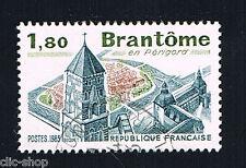 1 FRANCOBOLLO FRANCIA TURISTICA BRANTOME 1983 usato