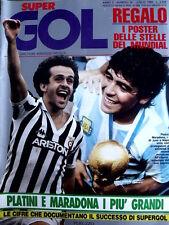 Super Gol n°30 1986 - I Poster del Mundial del trionfo ARGENTINA 1986  [GS35]