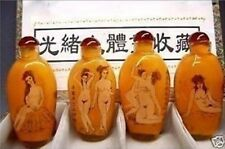 Chines handwork Inside Painting Art Nude Beauty Glass Snuff Bottle